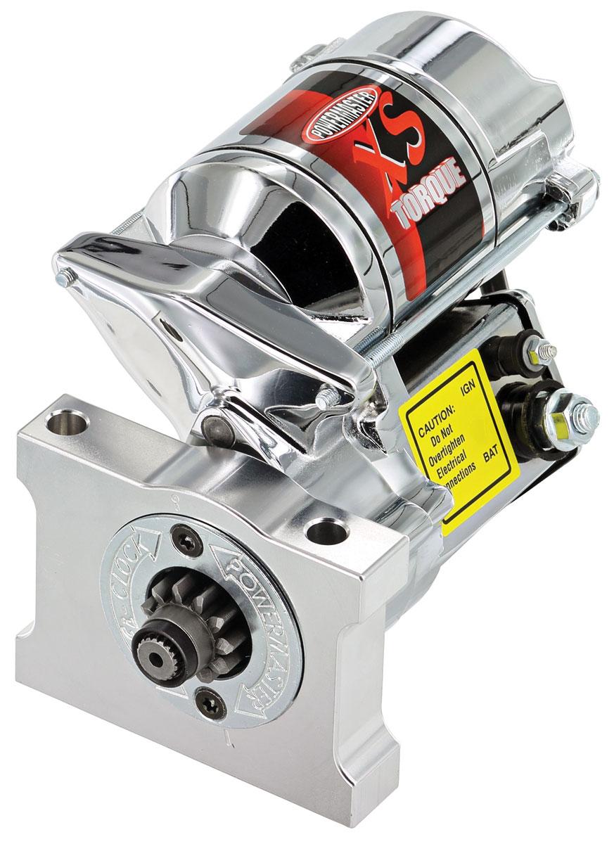 Starter, XS Torque, Powermaster, Pontiac/Olds V8 Exc. 301, Chrome