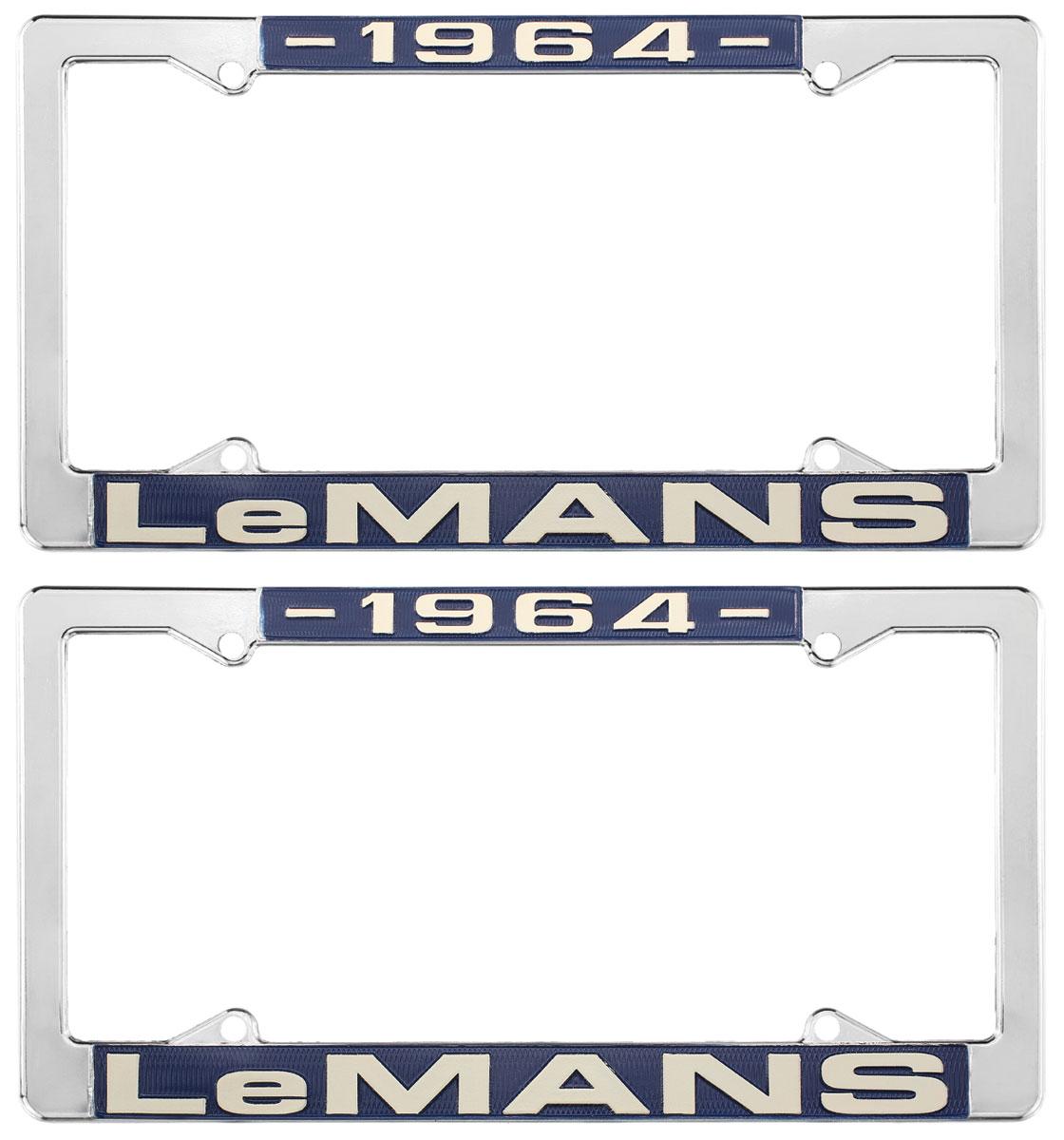 License Plate Frame, 1964 LeMans
