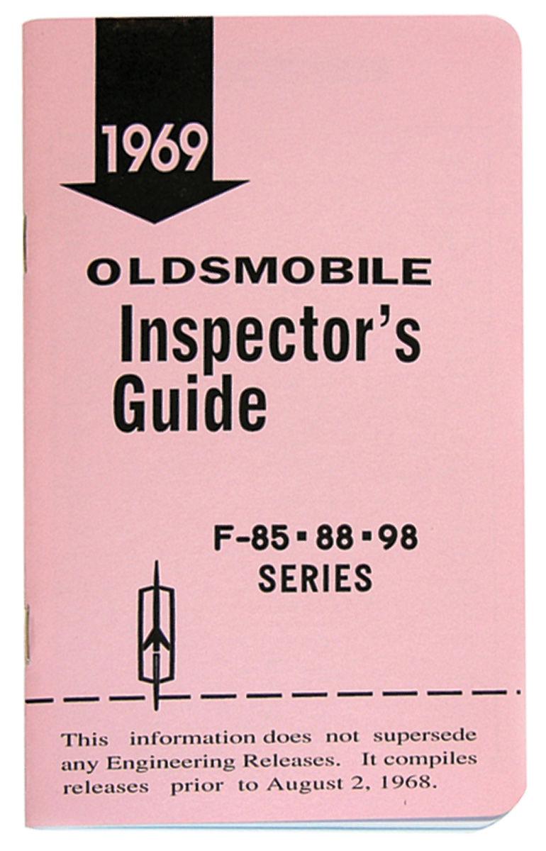 "Book, ""Inspectors Guide"", 1969 Oldsmobile"
