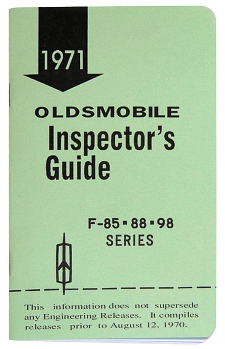 "Book, ""Inspectors Guide"", 1971 Oldsmobile"