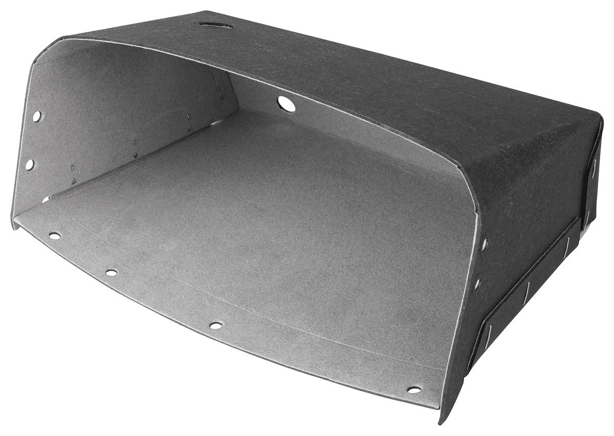 Glove Box, 1963 Riviera w/o A/C, Gray Flock