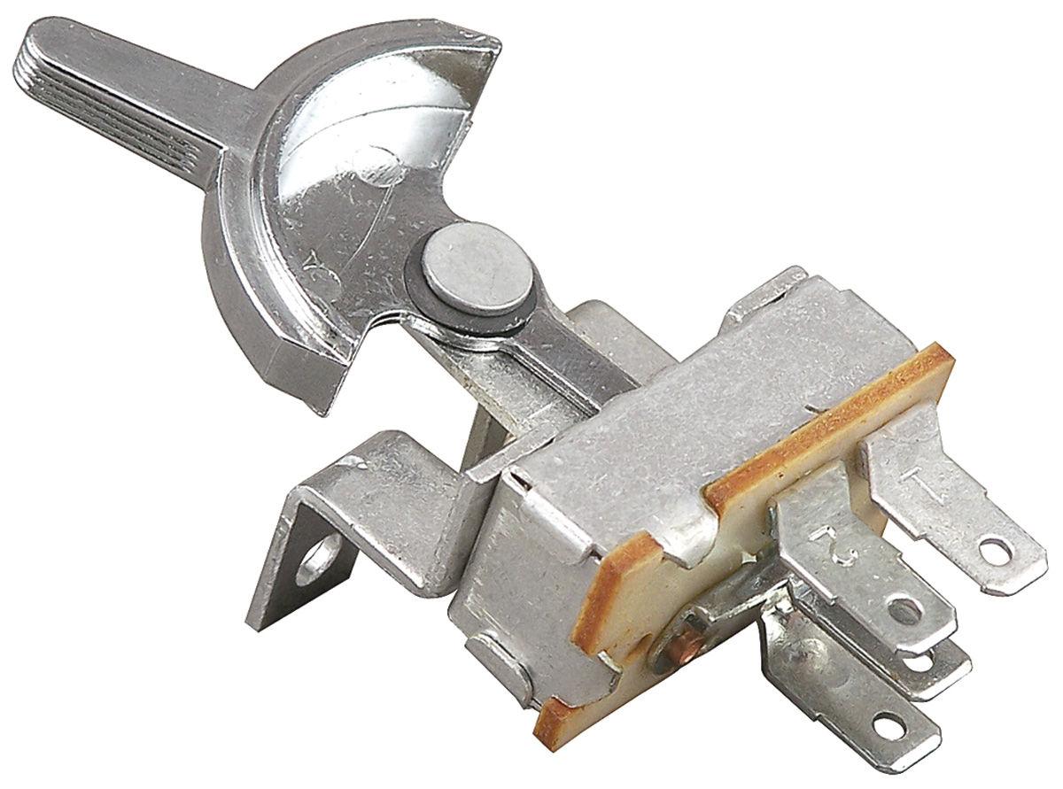 Blower Motor Switch, 1964 G-T-L, w/o AC, 1965 G-T-L, w/AC