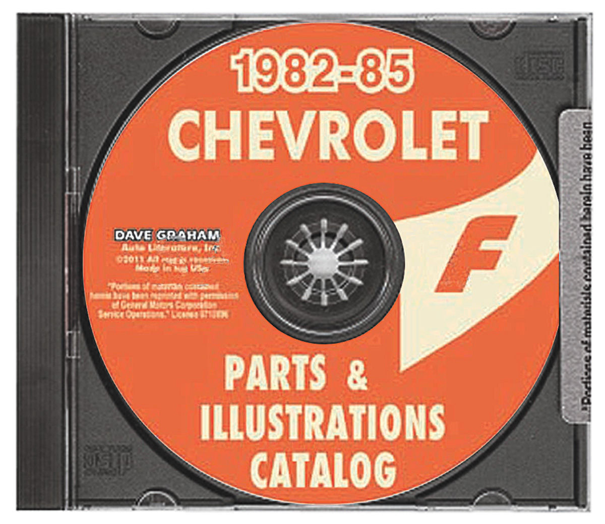 General Motors Parts & Accessories Guide, CD-ROM, 1982-85 Chevrolet