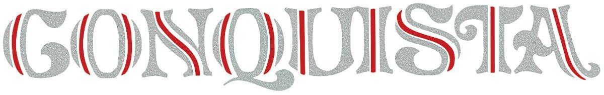 Decal, 78-87 El Camino, Tailgate, Conquista, Silver, Red