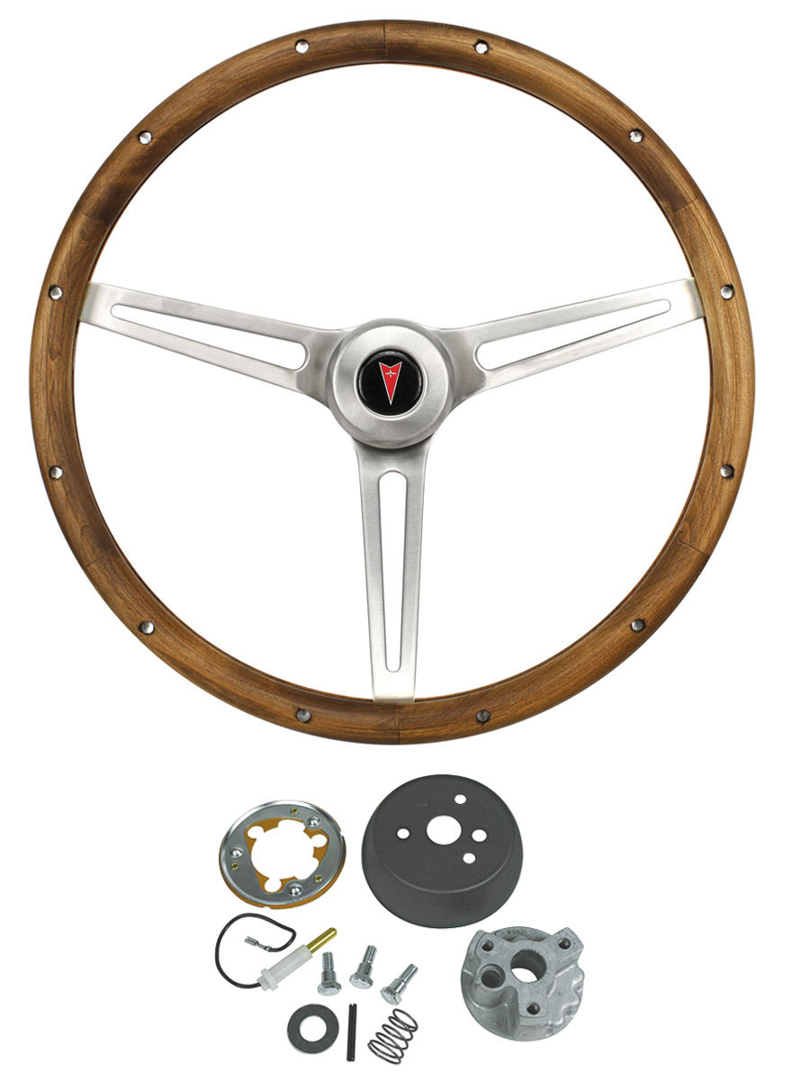 Steering Wheel Kit, Classic Nostalgia, 1964-66 Bonn/Cat/GP, w/o Tilt, Wood
