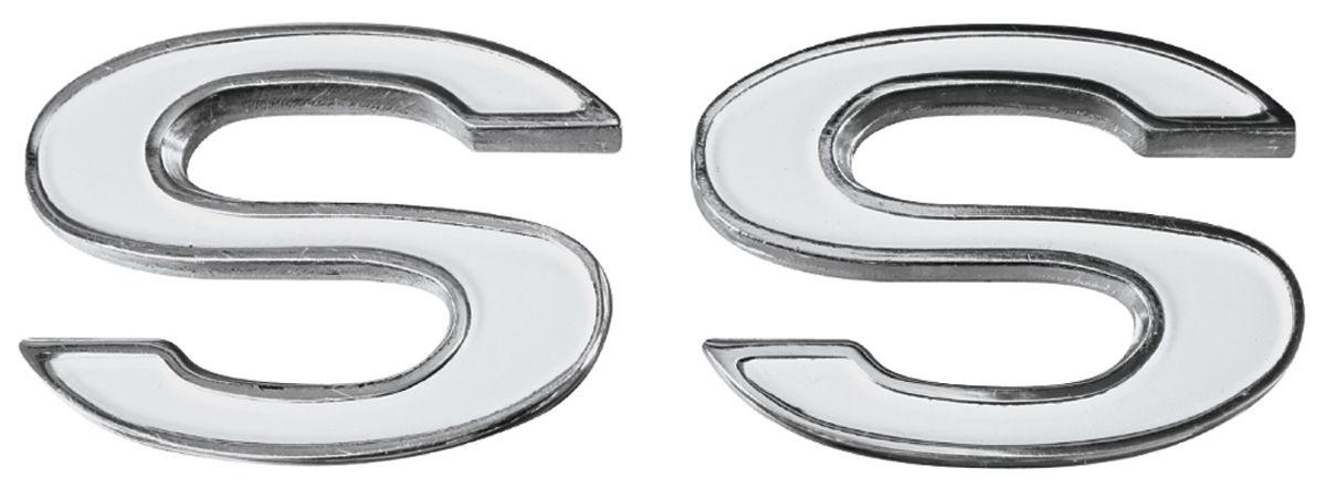 Emblem, Fender, 1969-72 Chevelle/El Camino, SS, Pair