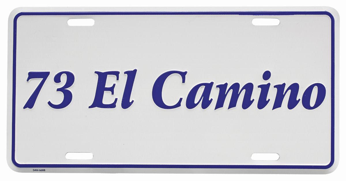 License Plate, Custom, 1973 El Camino