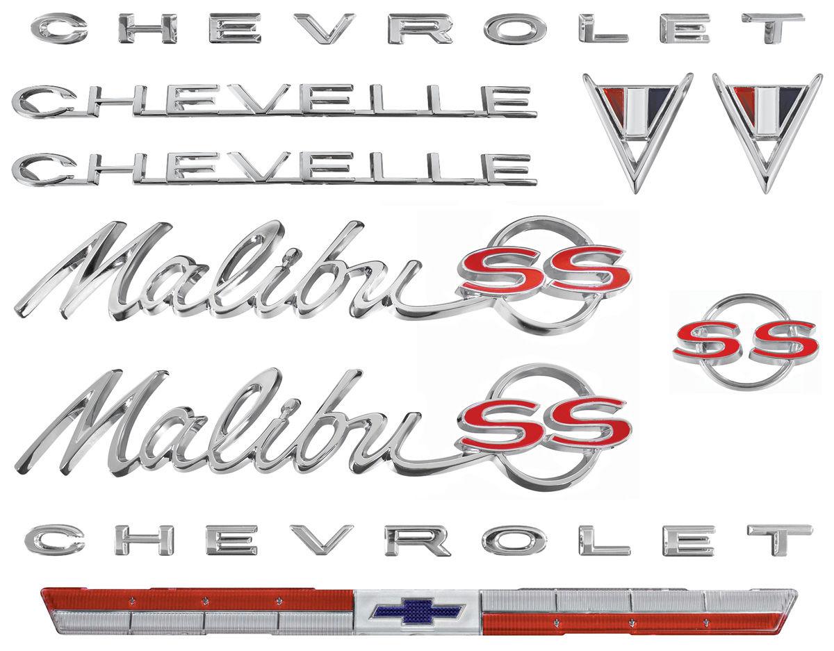Emblem Kit, 1964 Malibu Super Sport (SS) 283