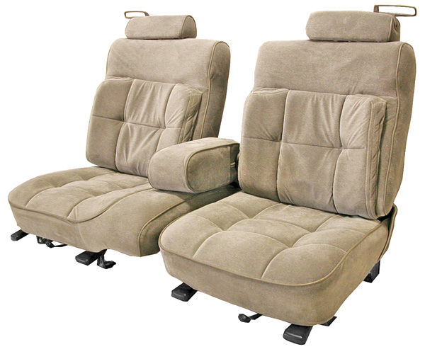 Seat Upholstery, 1987-88 Monte Carlo, Front Split Bench, Square Pillow-Top