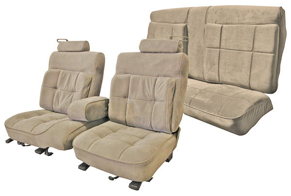 Seat Upholstery, 1987-88 Monte Carlo, Deluxe FT Bench/Coupe RR