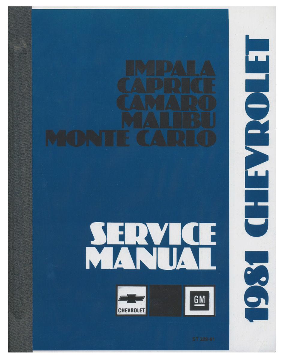 Manual, Chassis Service, 1981 Malibu/El Camino/Monte Carlo