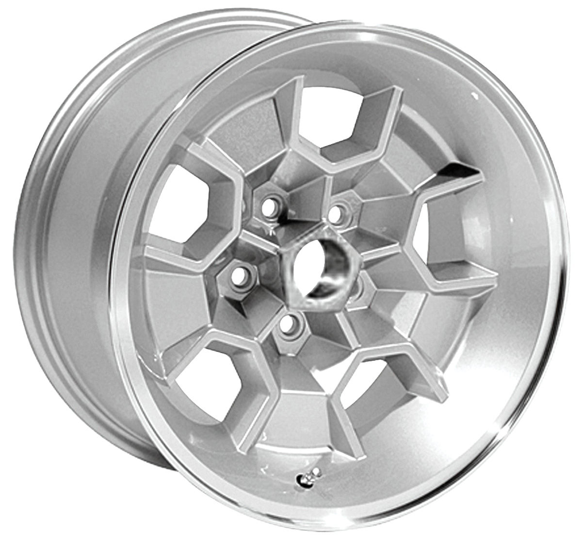 "Honeycomb Wheel, 1971-72 GTO, 17x9"", 5-1/8"" BS"