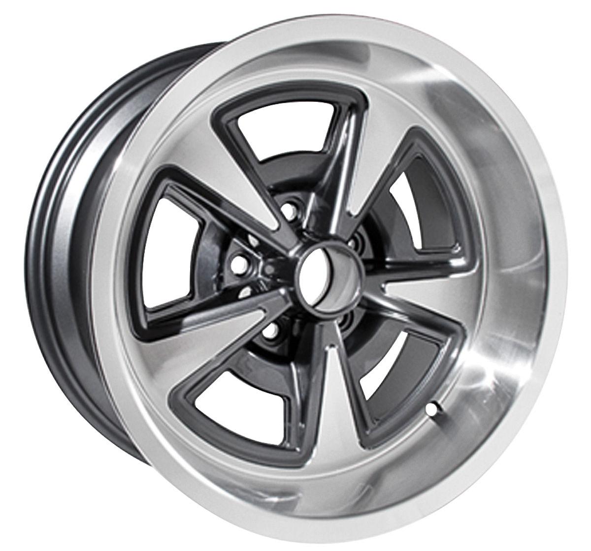 """Rally II Wheel, 1964-73 GTO, Aluminum, 17x9, 5-1/8"""" BS"""