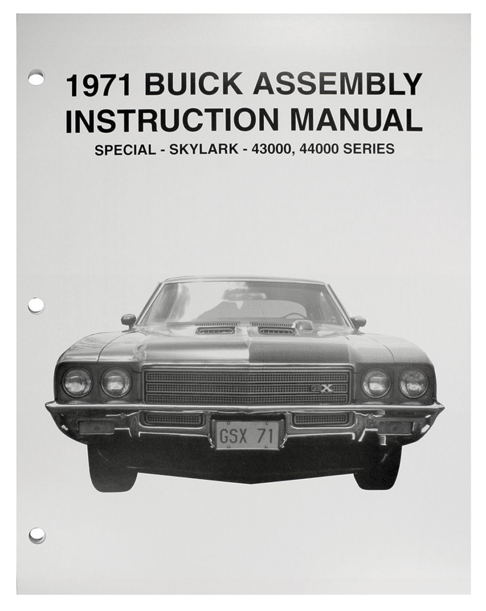 Assembly Manual, 1971 Buick