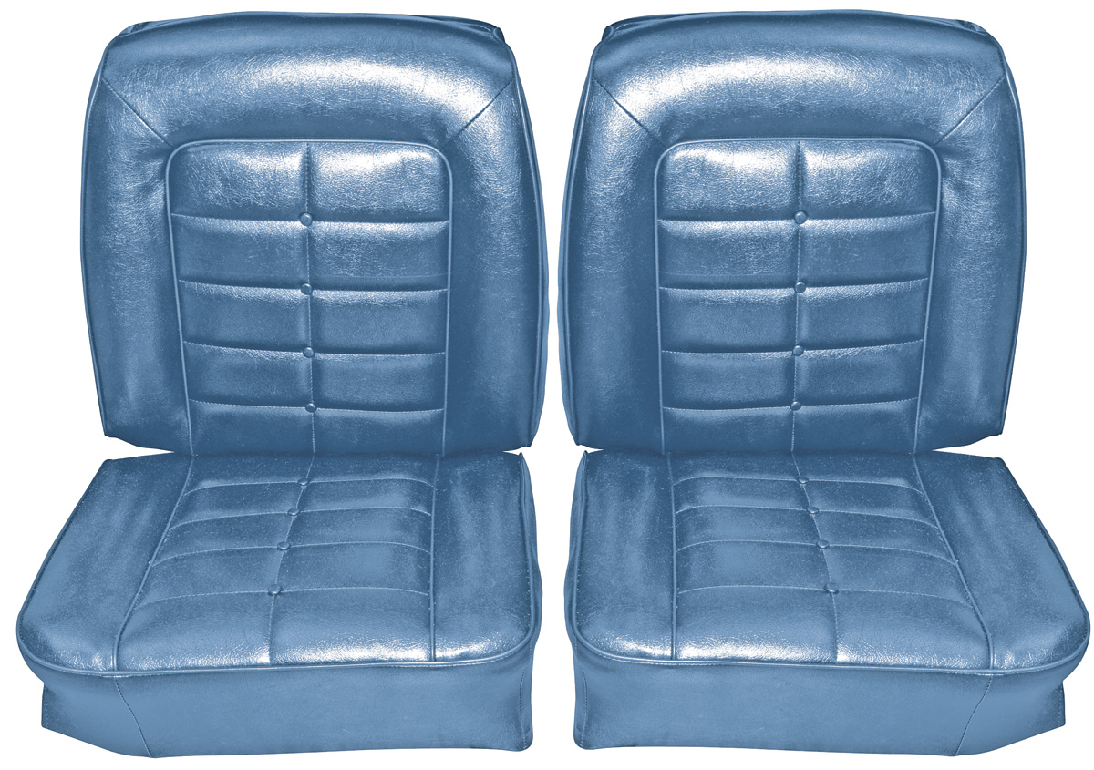 Seat Upholstery, 1964 Riviera, Front Buckets