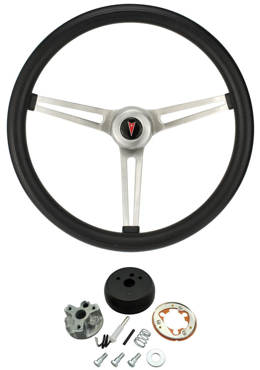 Steering Wheel Kit, Classic Nostalgia, 1964-66 Pontiac, w/o Tilt, Black Foam