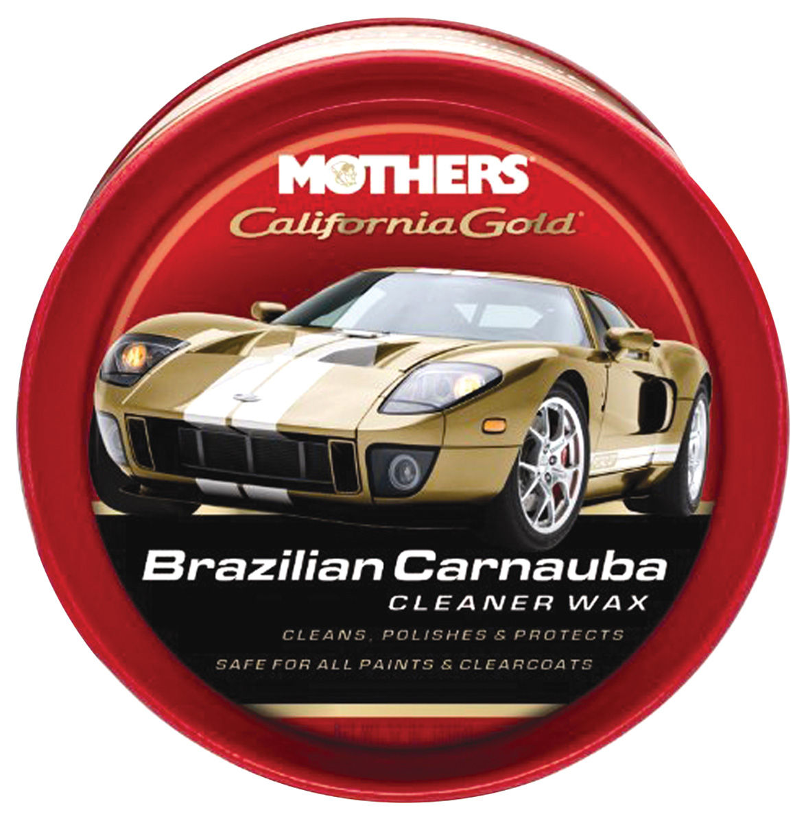 Brazilian Carnauba Cleaner Wax, Mothers California Gold, 12-oz. paste