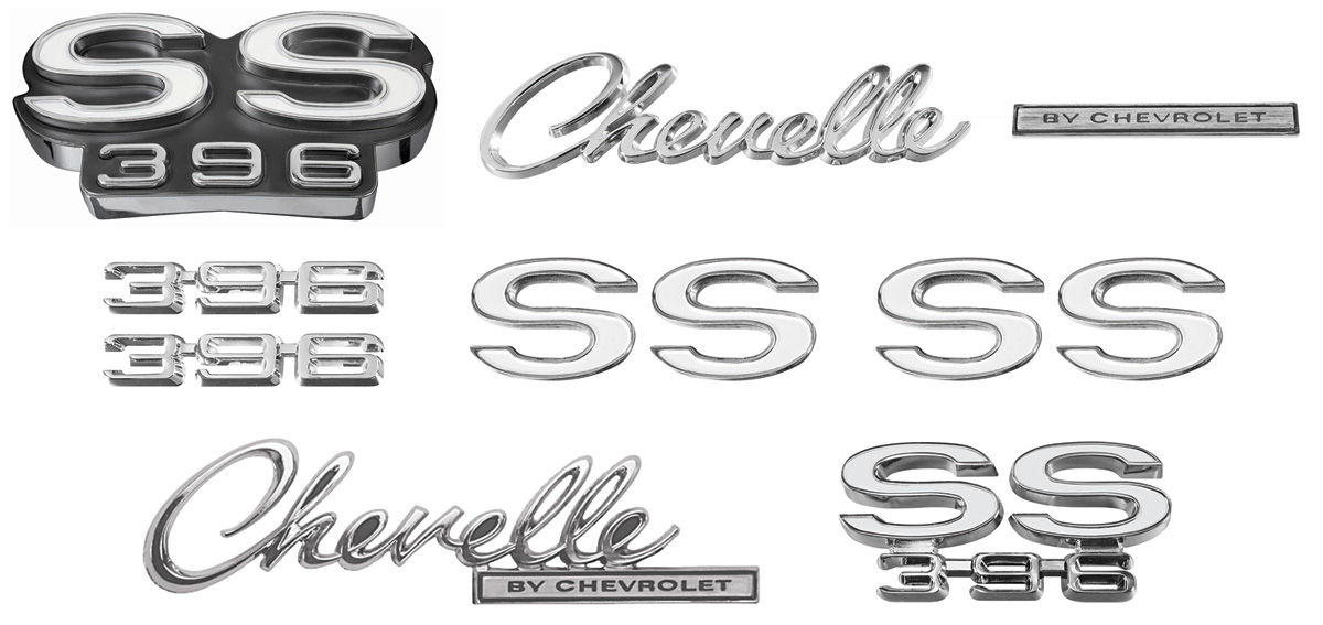 Emblem Kit, 1969 Chevelle Super Sport (SS) 396