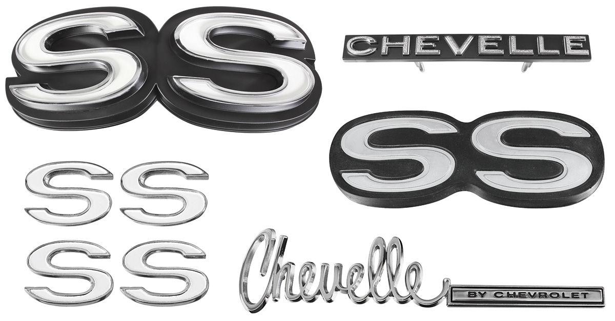 Emblem Kit, 1972 Chevelle Super Sport (SS) 350/396