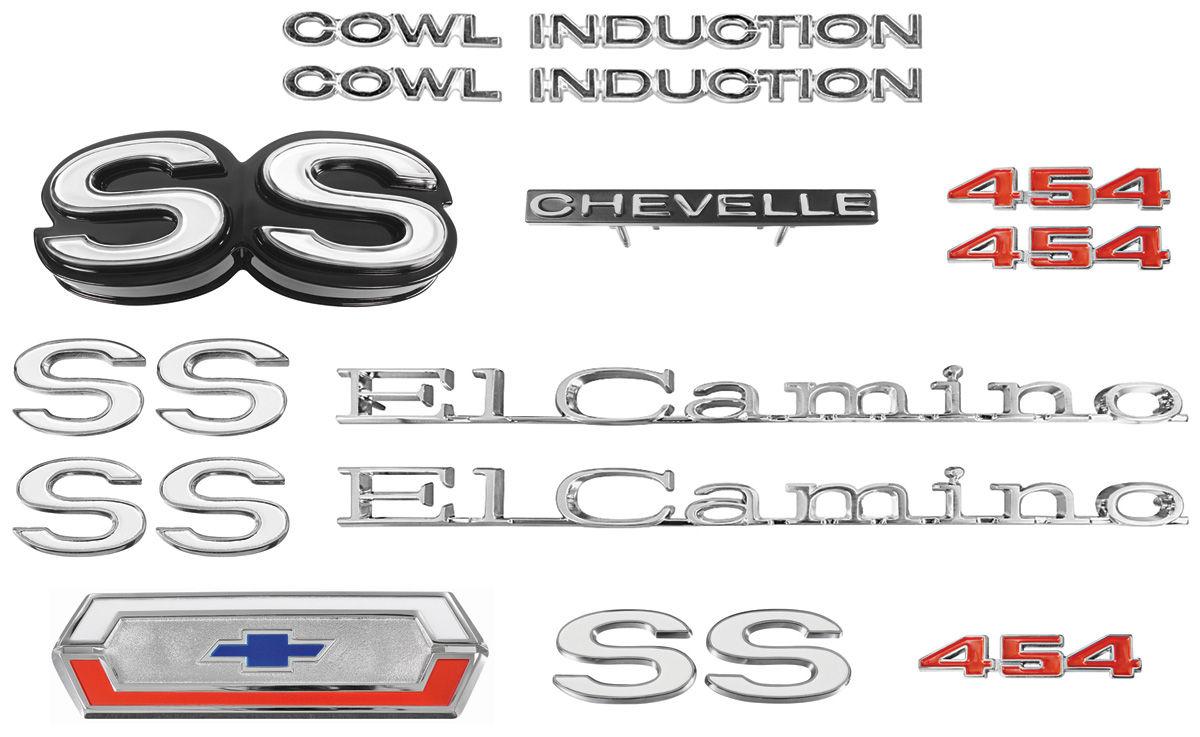 """Emblem Kit, 1970 El Camino Super Sport (SS) 454 """"Cowl Induction"""""""