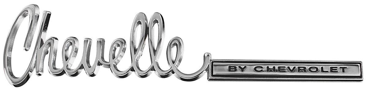 Emblem, Trunk Lid, 1971-72 Chevelle
