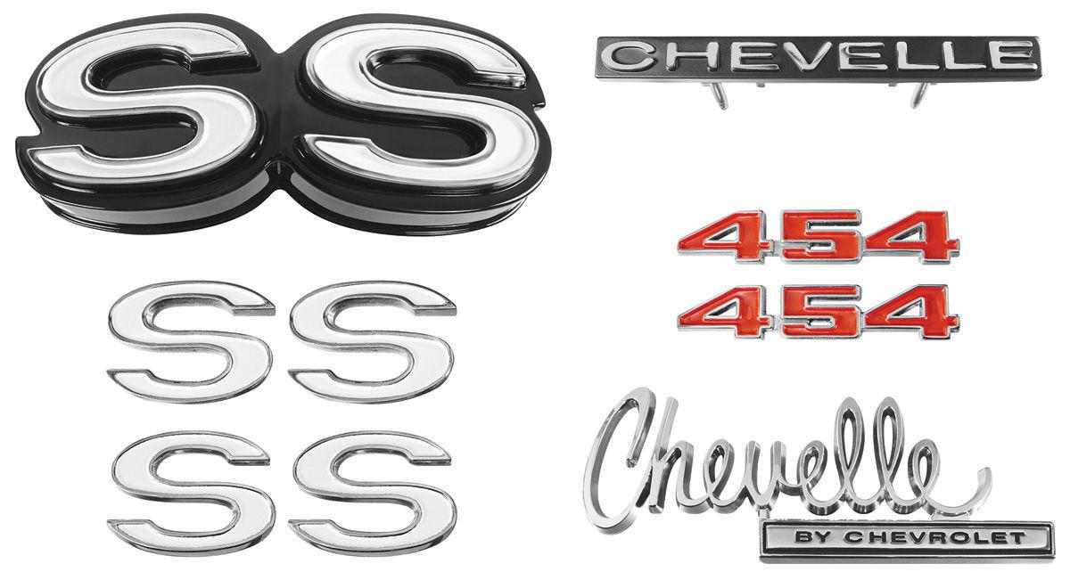 Emblem Kit, 1970 Chevelle Super Sport (SS) 454