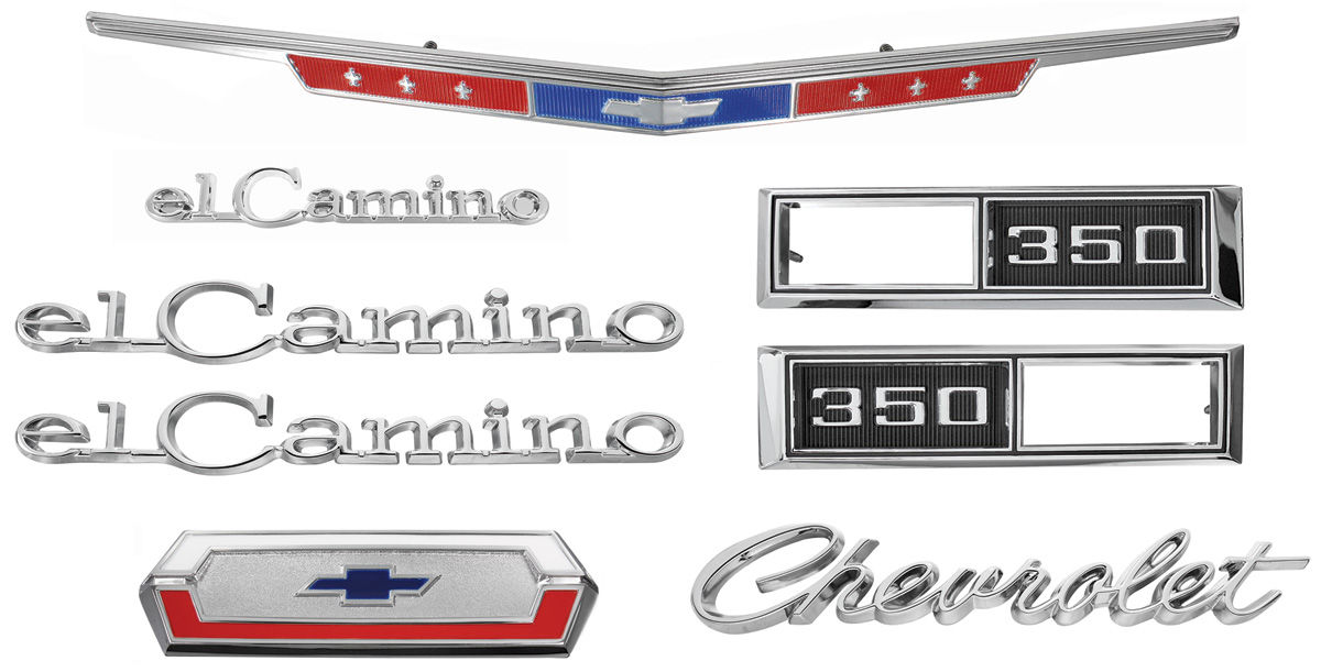 68 USA-Made 1968 Chevelle El Camino Bowtie Grill Emblem NEW Trim Parts