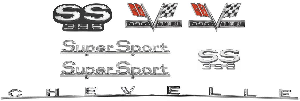 Emblem Kit, 1966 Chevelle Super Sport (SS) 396