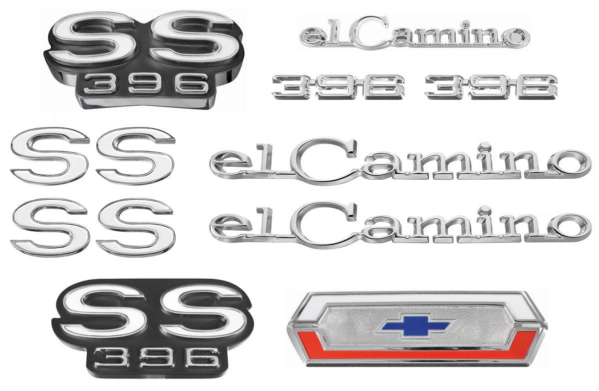 Emblem Kit, 1969 El Camino Super Sport (SS) 396