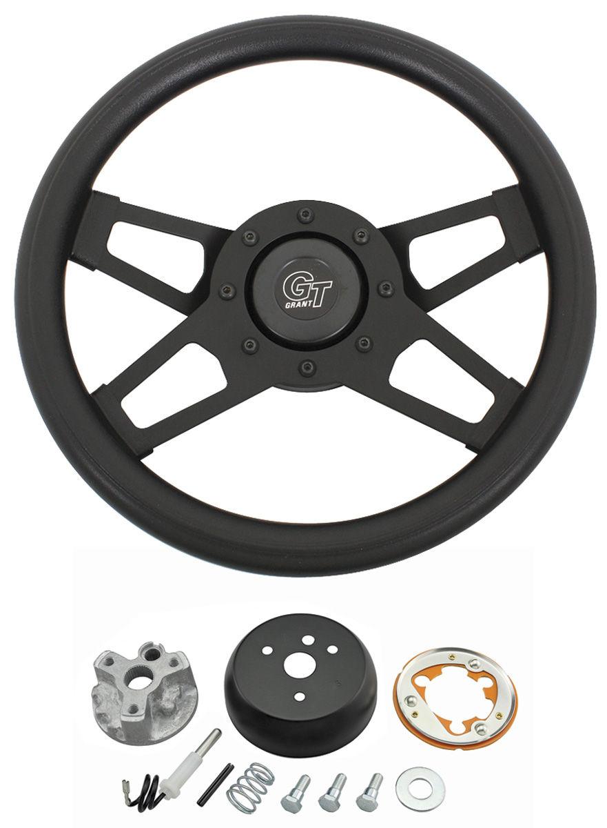 Steering Wheel Kit, Challenger, 1965-66 & 1968 Oldsmobile, Black