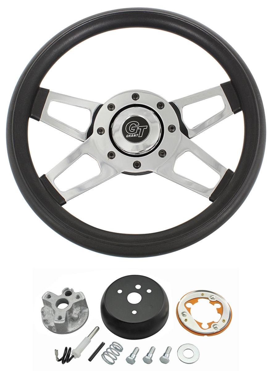 Steering Wheel Kit, Challenger, 1959-63/1967-68, Chrome