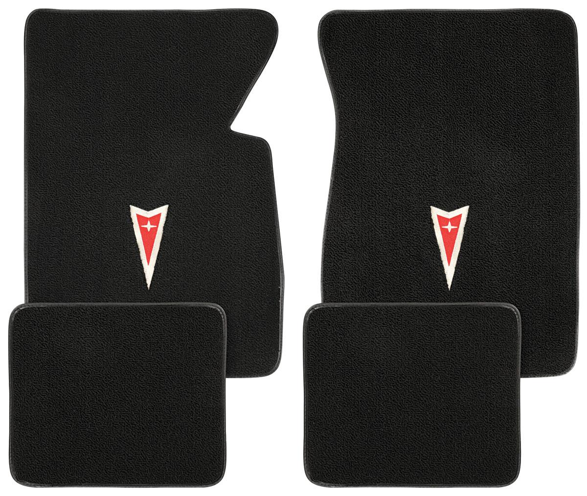 Floor Mats, Raylon 1959-76 Bonneville/Catalina/1962-68 Grand Prix Arrowhead Logo