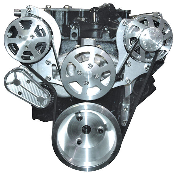 S-Drive Pulley System, 64-88 Chevrolet, Small-Block, Manual Steer