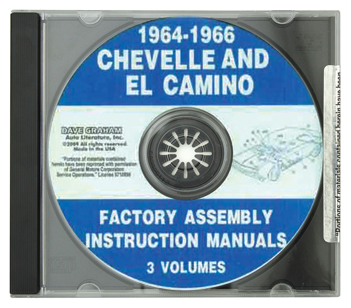 Assembly Manual, CD-ROM, 1964-66 Chevelle/El Camino