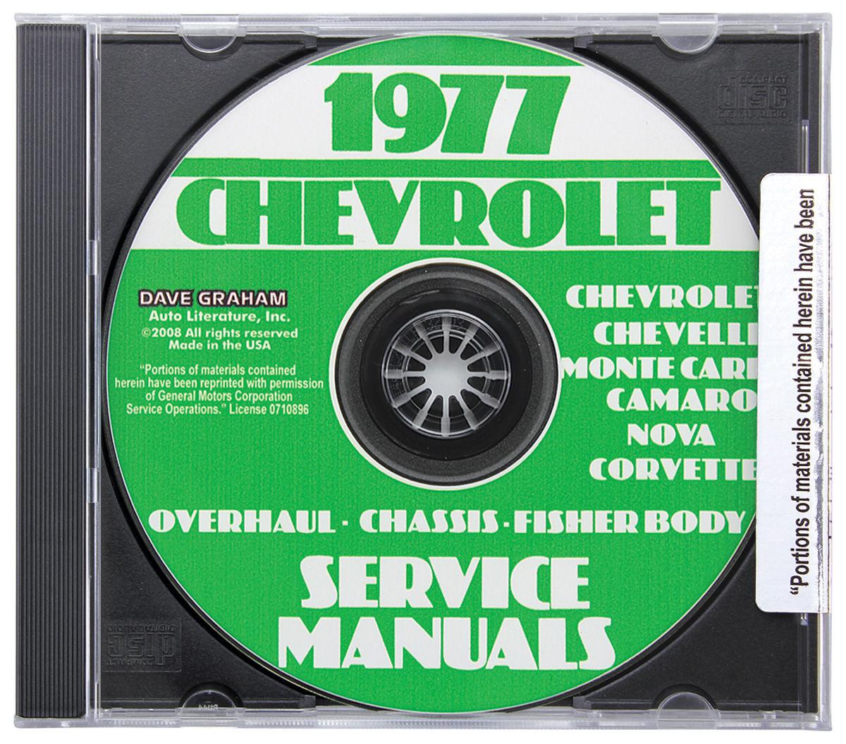 Factory Shop Manuals, CD-ROM, 1977 Monte Carlo