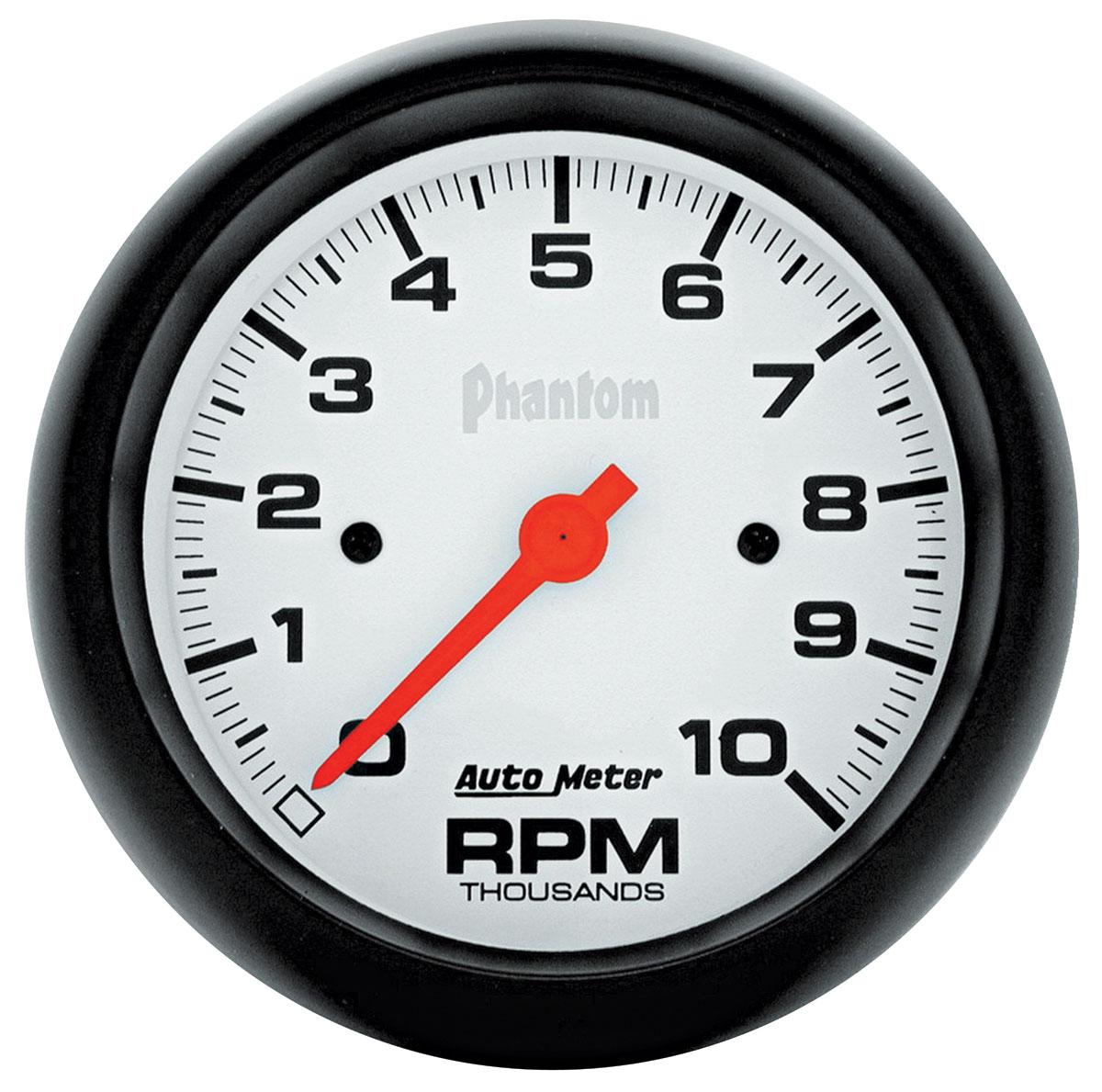Gauge, Tachometer, Auto Meter, Phantom, 3-3/8