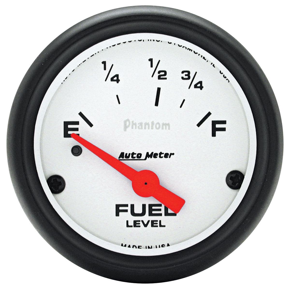 Gauge, Fuel, Auto Meter, Phantom, 2-5/8