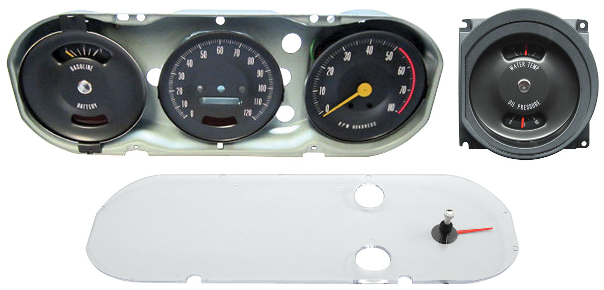 Gauge Cluster, 66 GTO, Rally Style