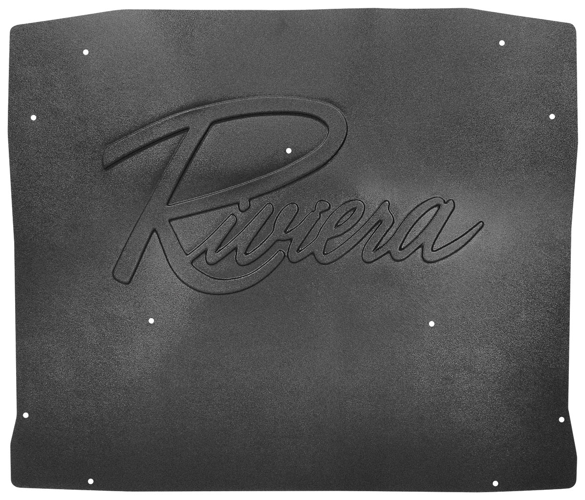 Shield, Underhood, 63-65 Riviera, Riviera logo