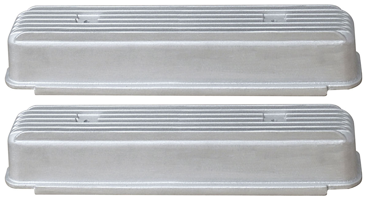 Valve Covers, 53-66 Buick, V8 Nailhead, Fins, Smooth Side