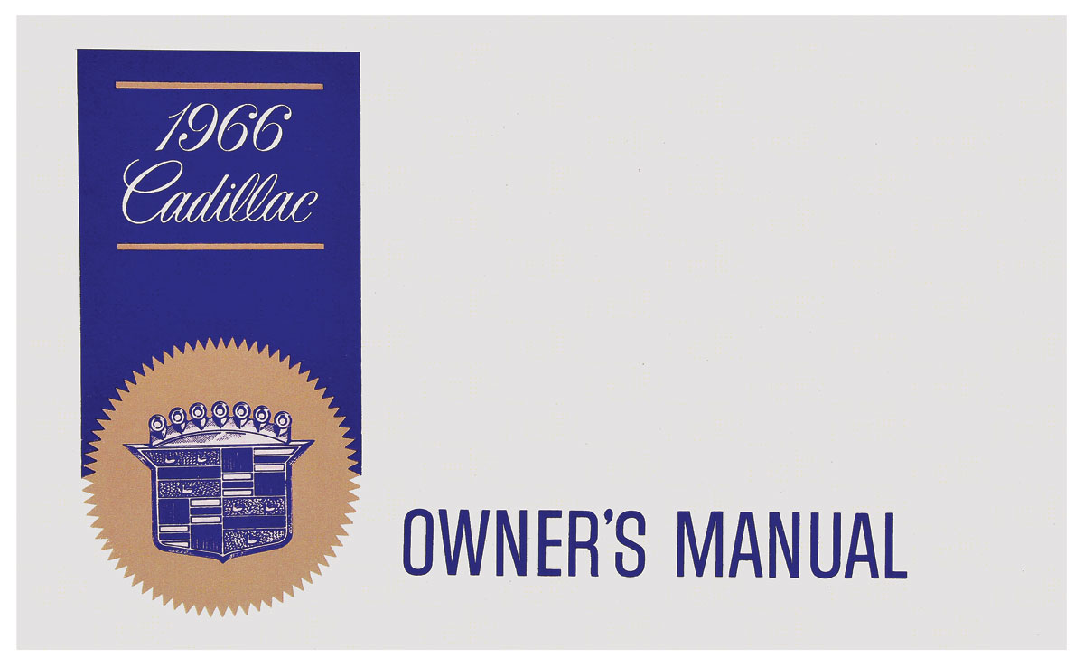 Owners Manual, Authentic, 1966 Cadillac