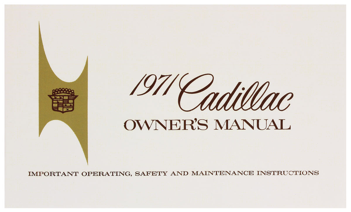Owners Manual, Authentic, 1971 Cadillac