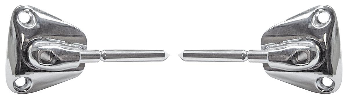 Support, Sun Visor,78-88 Chev/Buick G-Bdy, Short Chrome, w/Illuminated Mirrors