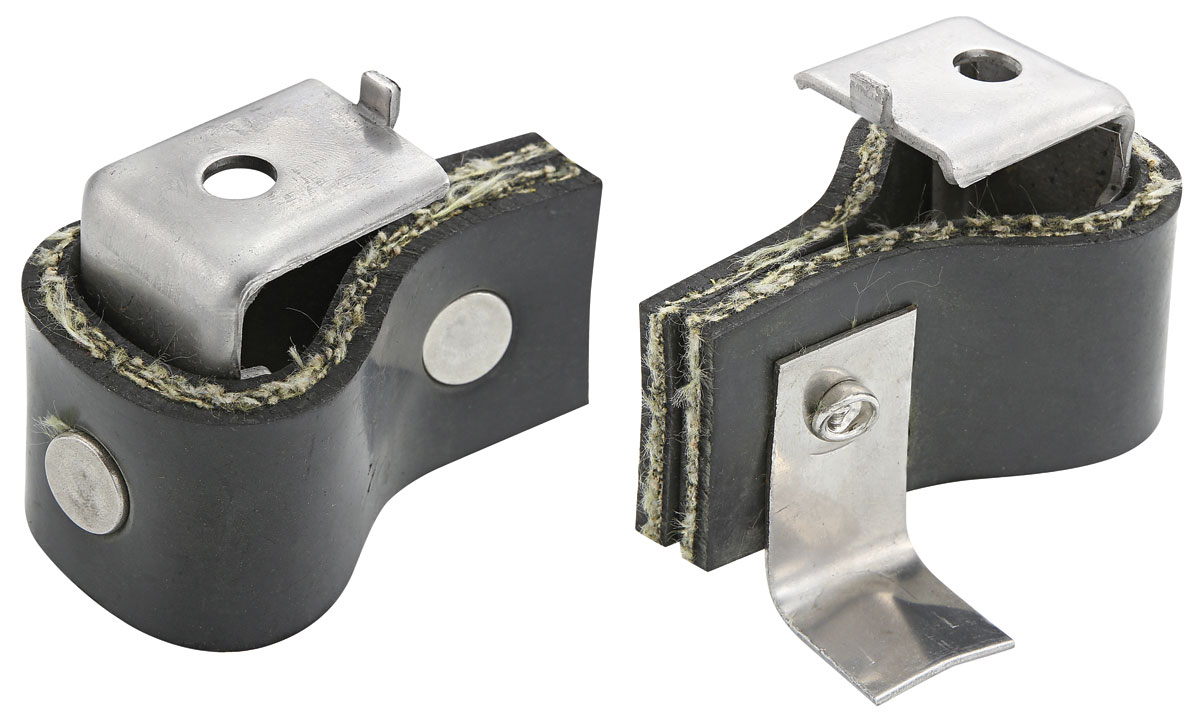 Tailpipe Hangers, 64-72 A-Body, Stainless