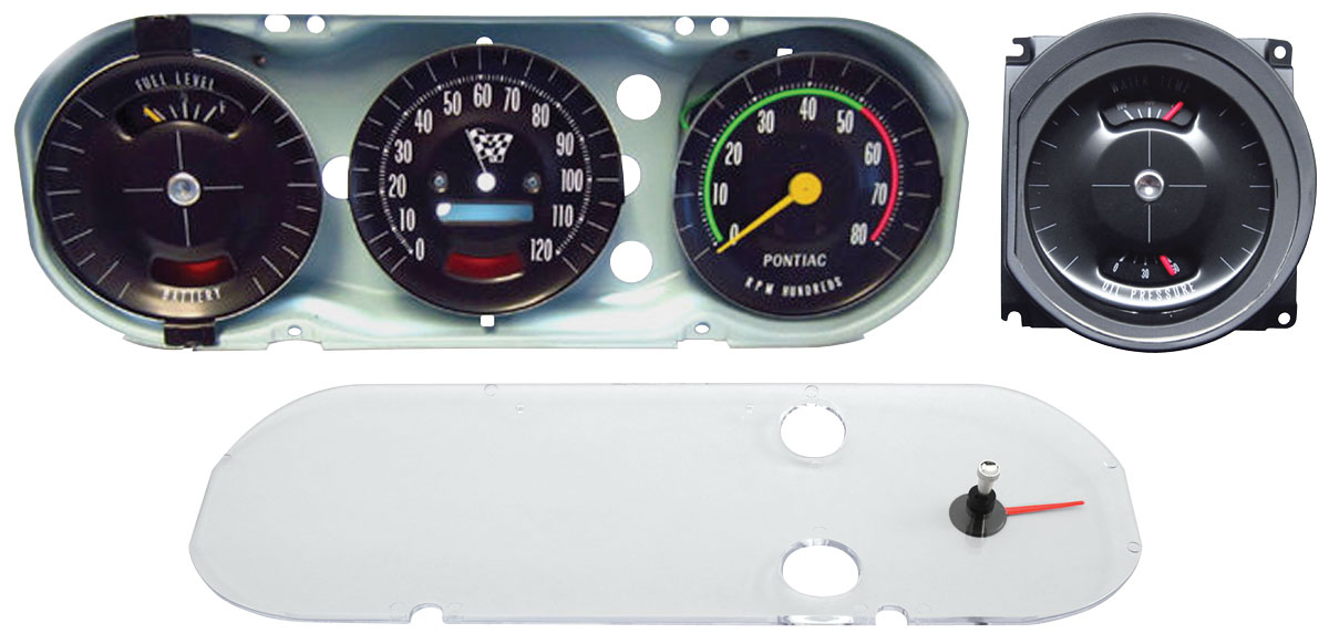 Gauge Cluster, 65 GTO, Rally Style, Late