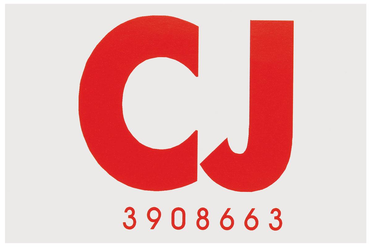 Decal, 1968 Cutlass, Frame Code CJ, Hardtop