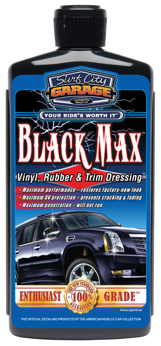 Dressing, Black Max Vinyl/Rubber/Trim, Surf City Garage, 16oz
