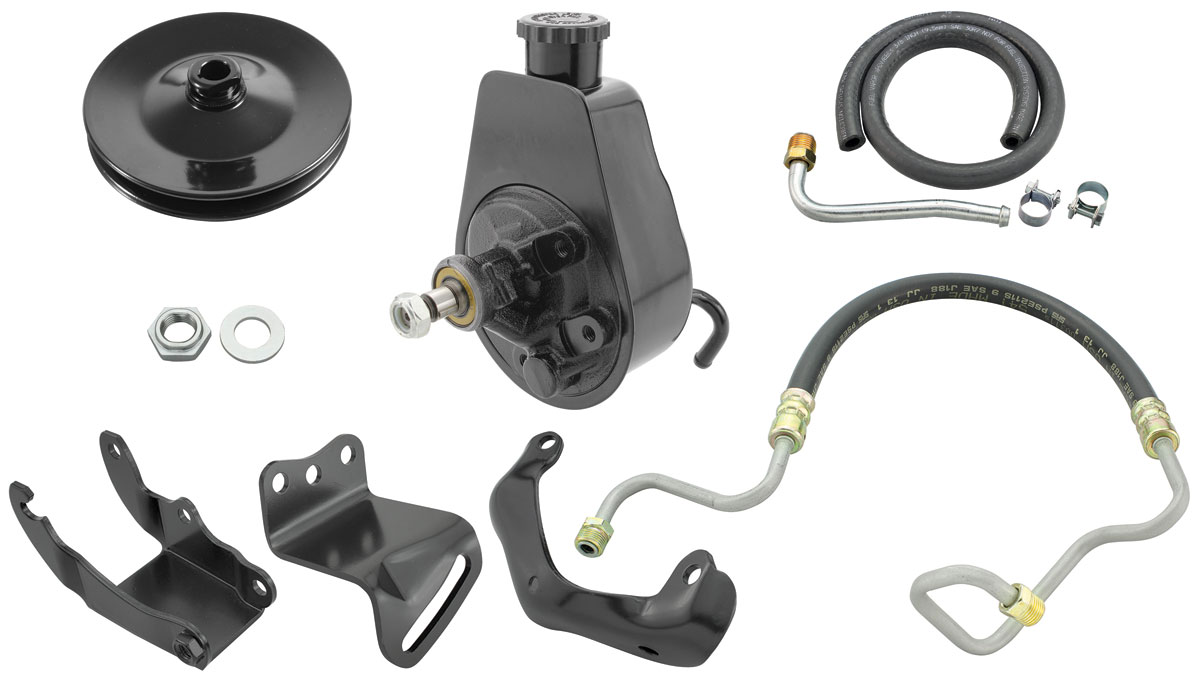 Power Steering Conversion Kit, 72 CH/EC/MC, Small-Block, w/o AC