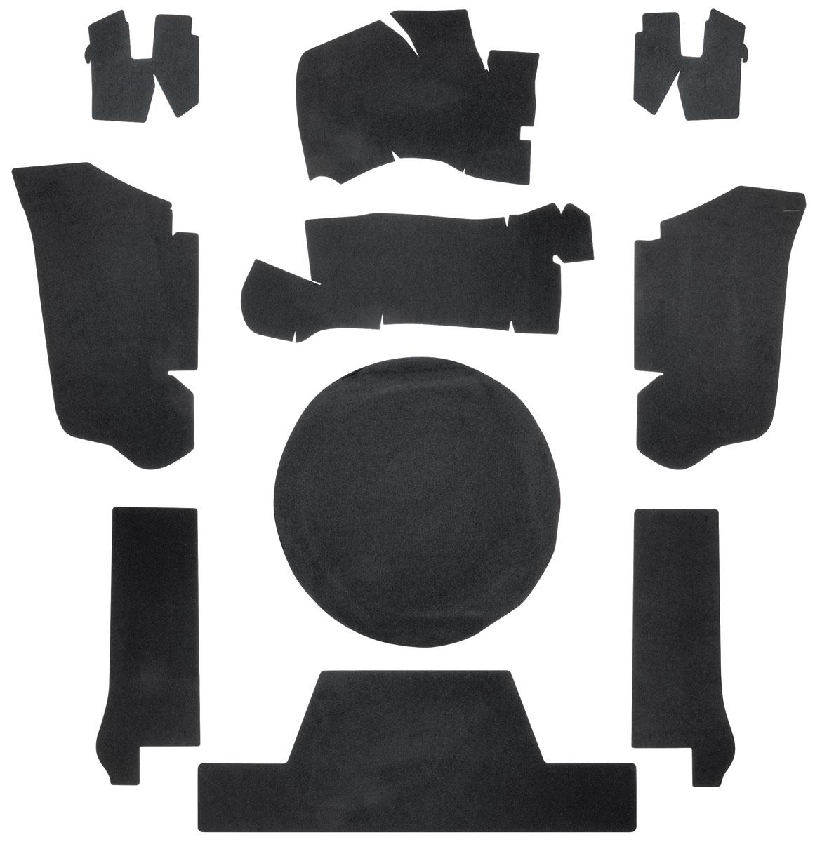 Trunk Board Set, 1973 Eldorado Convertible, w/ Felt Material