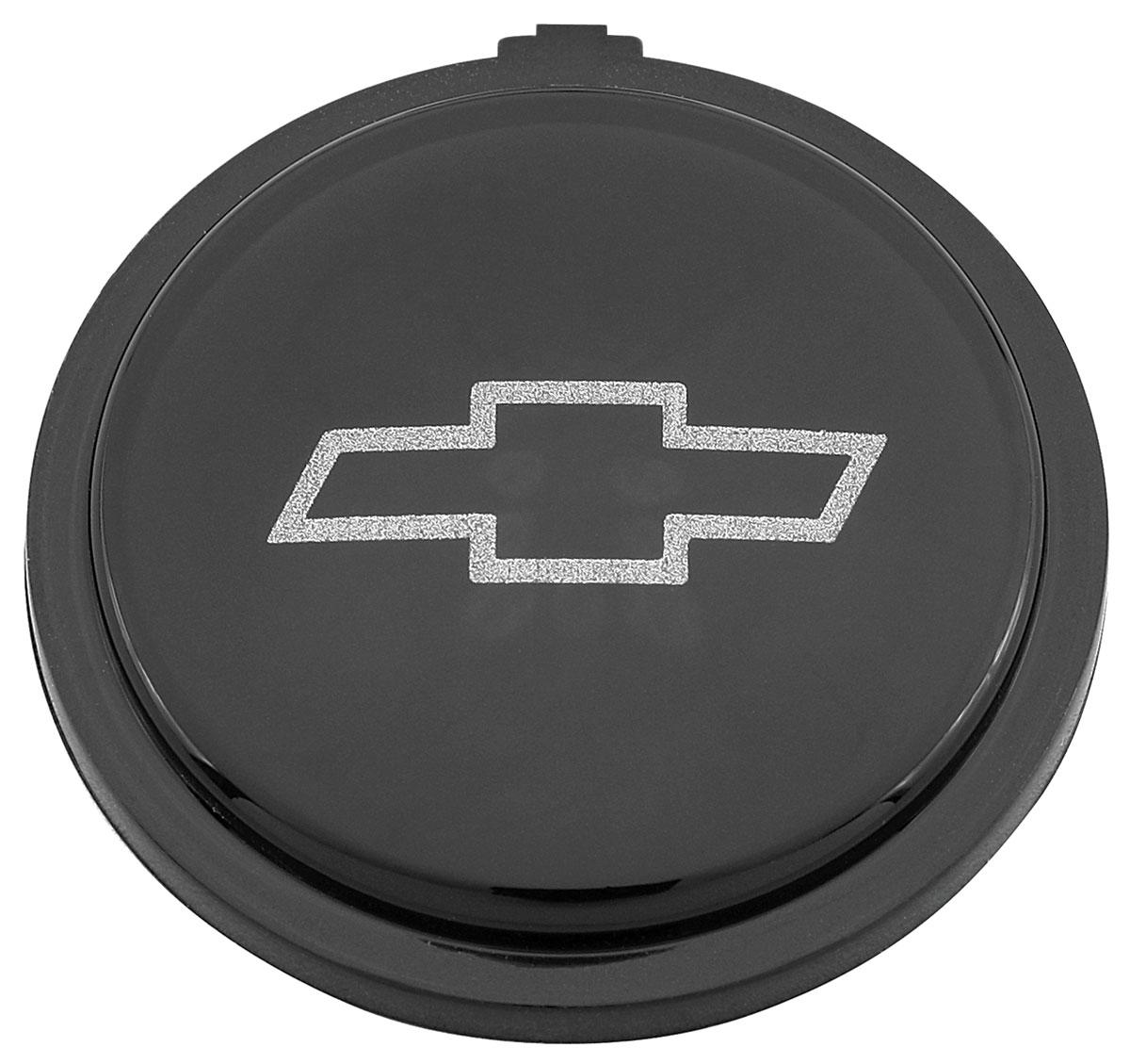 Emblem, Horn Button, Sport Steering Wheel, 1971-77 CH/EC/MC, Black